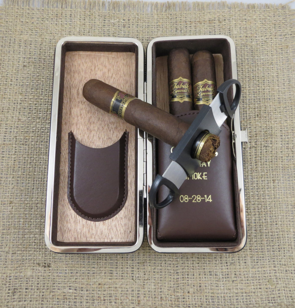 Folding Personalized Cigar Case