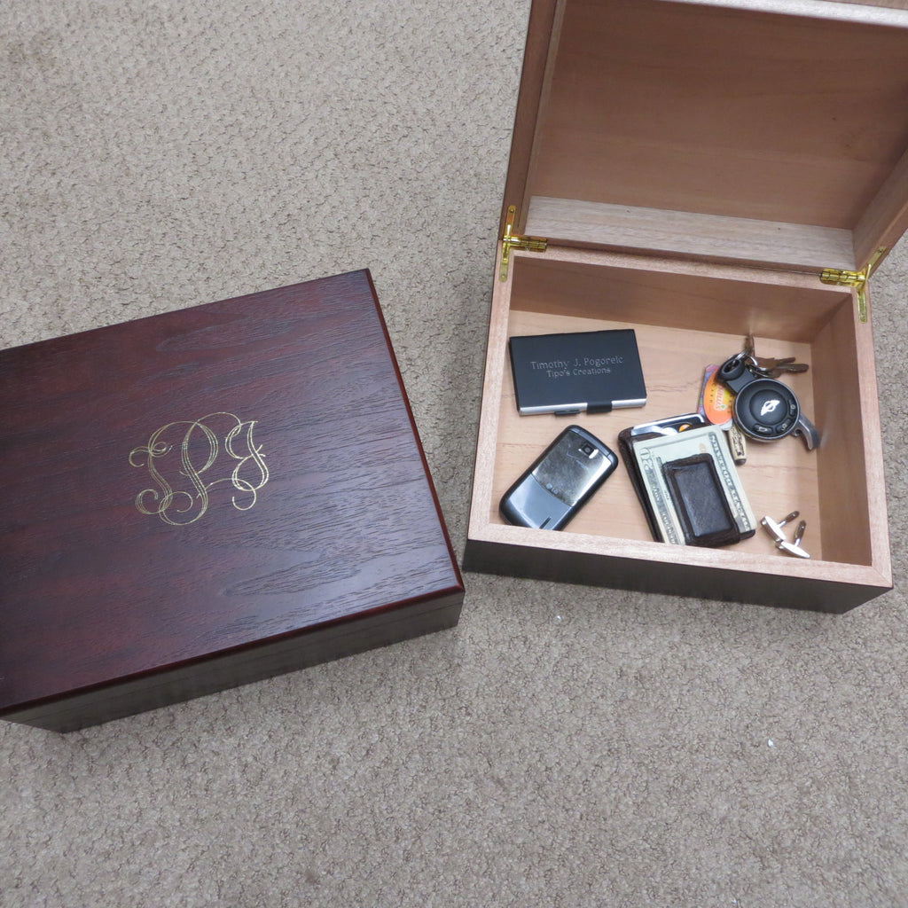 Personalized Mens Keepsake box