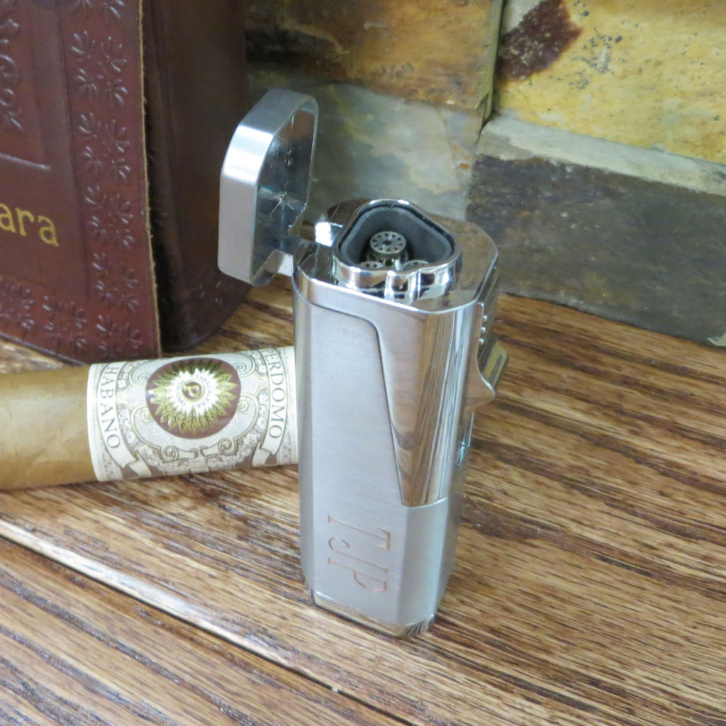 Silver Butane Cigar Lighter