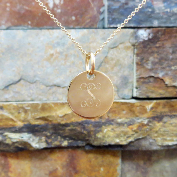 Mini Gold Monogram Necklace