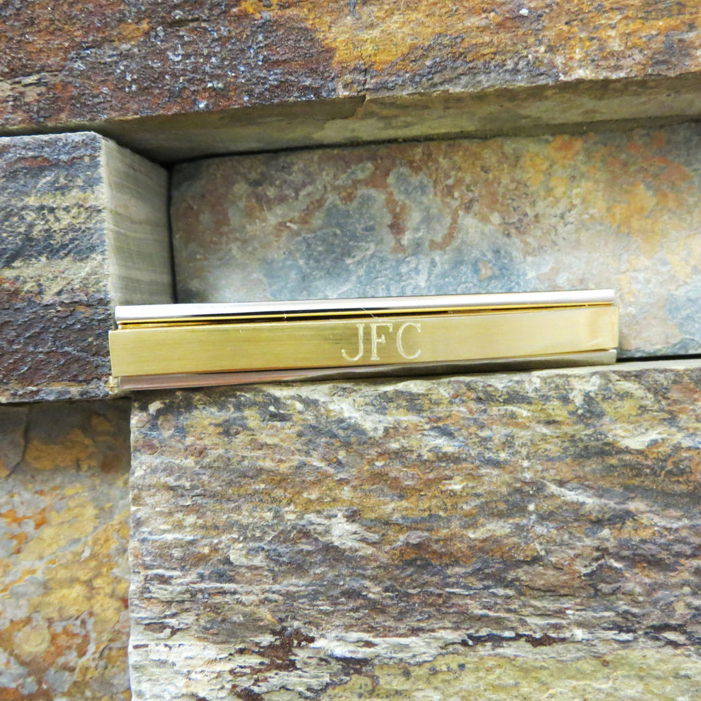 Personalized Two Tone Tie Clip