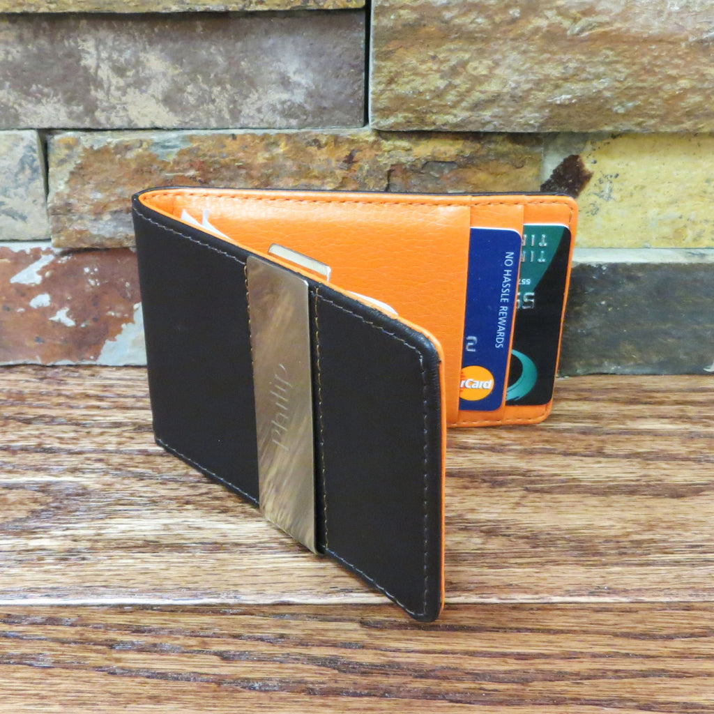 Leather Wallet w/ Money Clip
