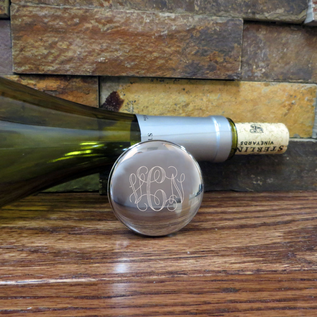 Personalized Wine Stopper- Monogrammed House Warming Gift- Engraved Gift- Wedding Gift