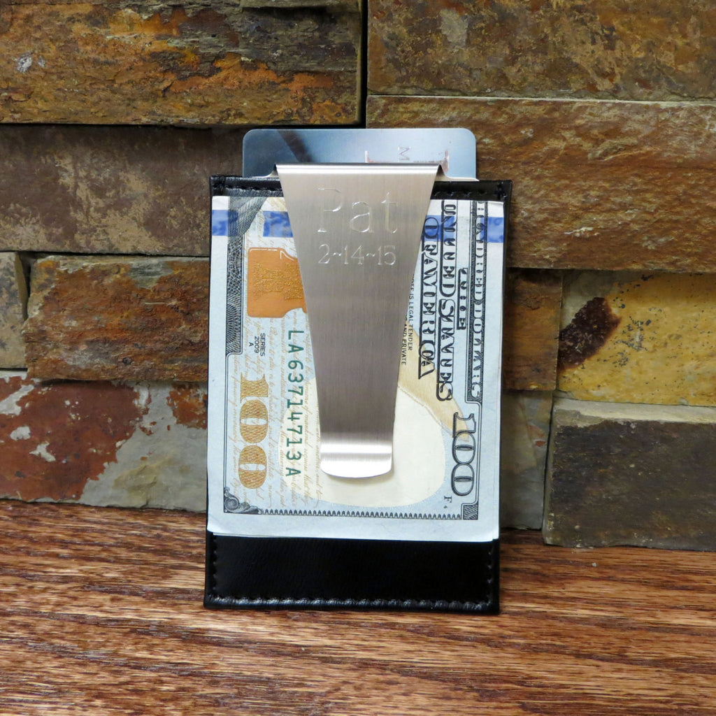 Leather Card Holder w/ Money Clip