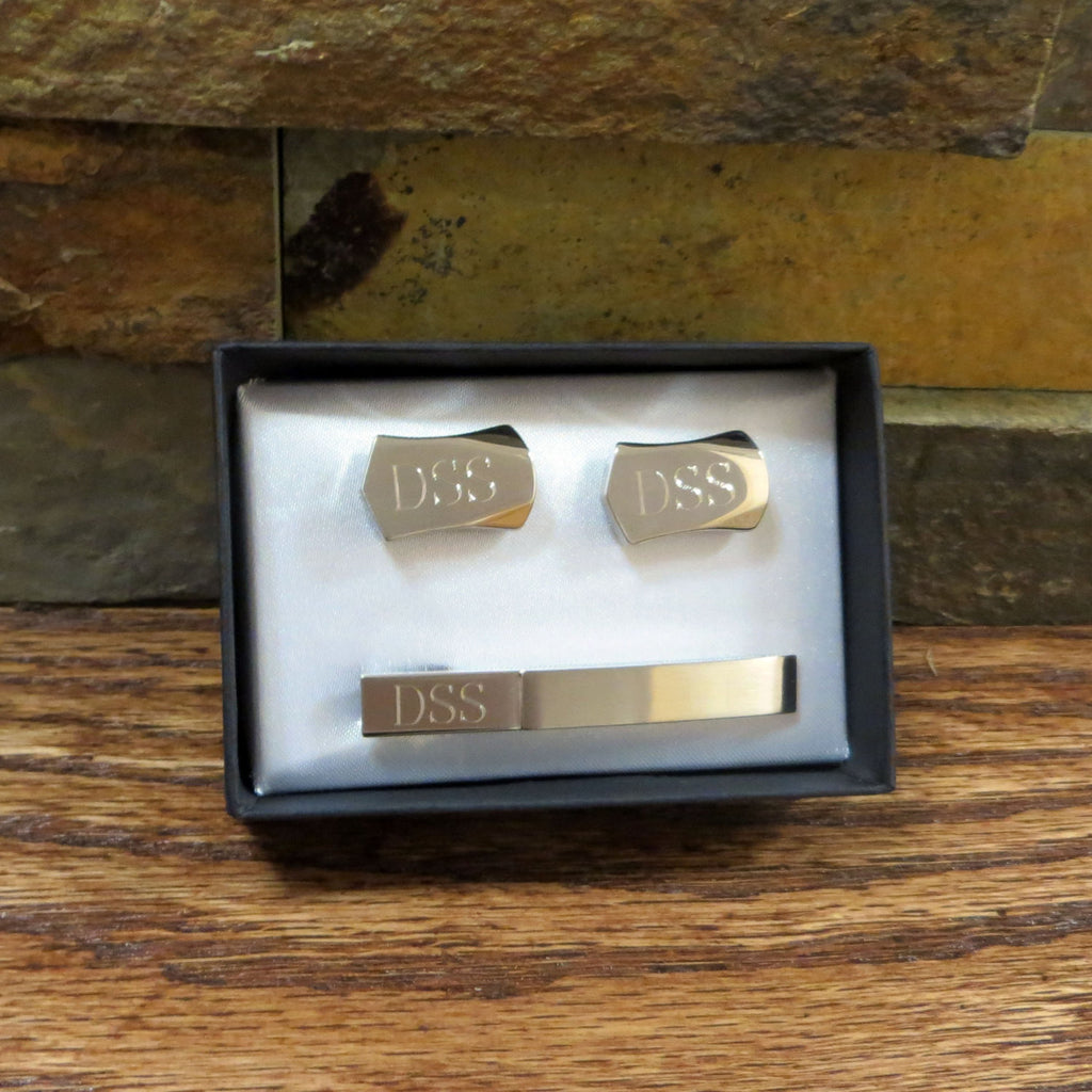Tie Clip with Cuff Links Set