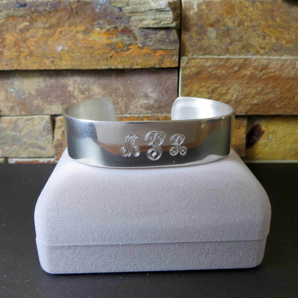 Personalized Pewter Cuff Bracelet