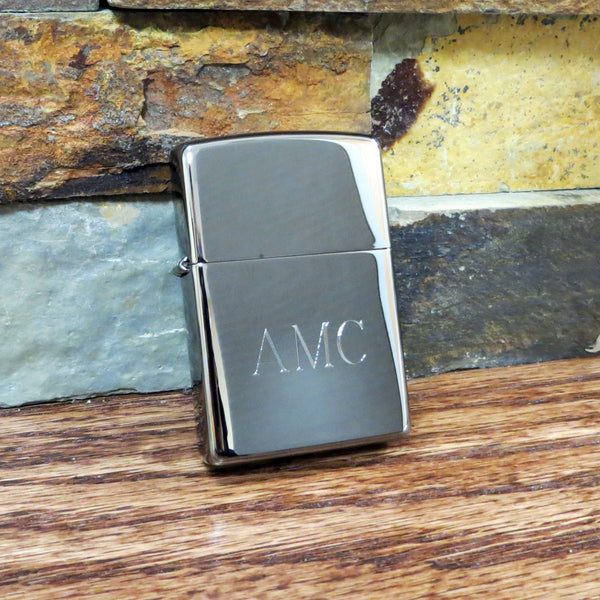 Personalized Black Ice Zippo Lighter