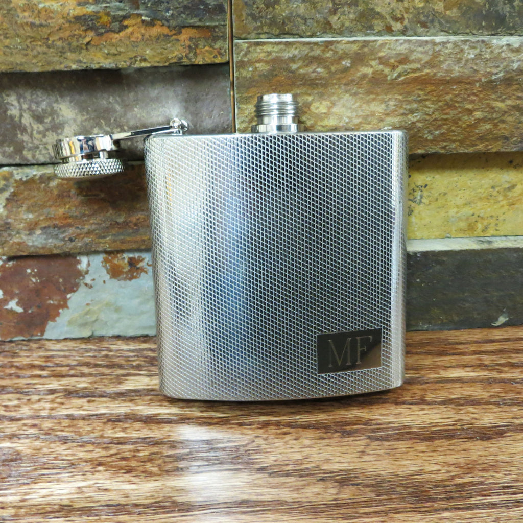 Personalized Textured  Flask