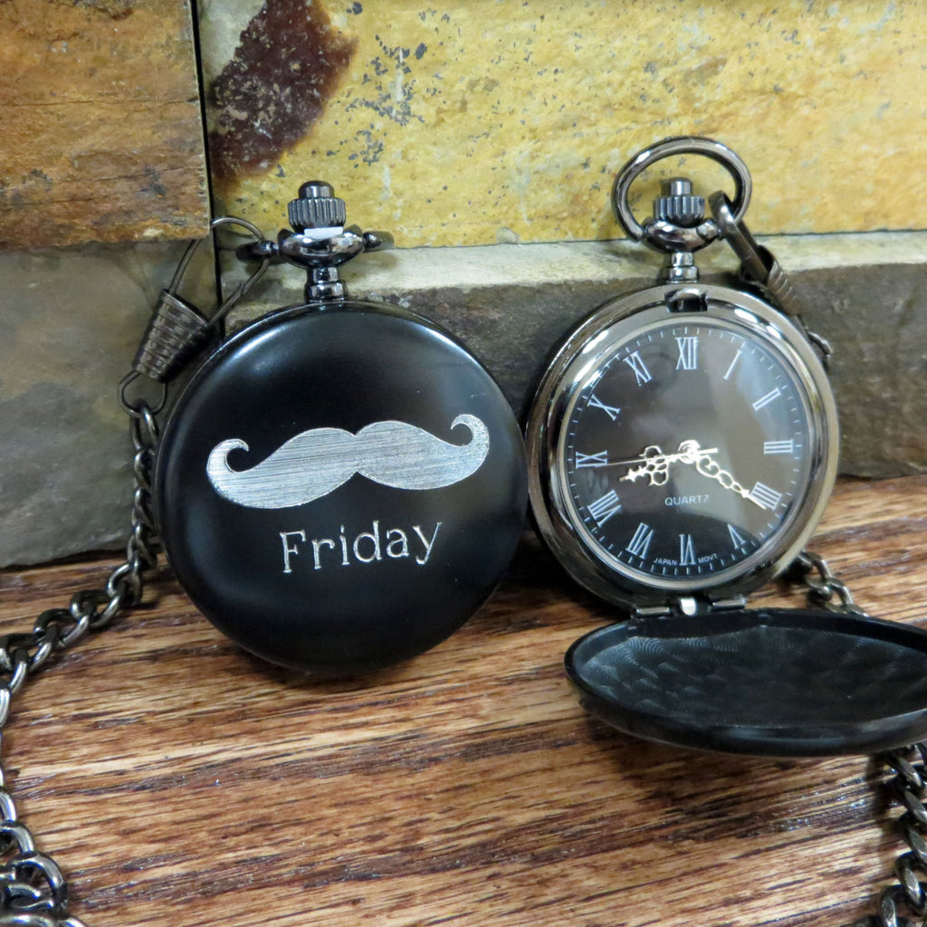 Personalized Mustache Pocket Watch