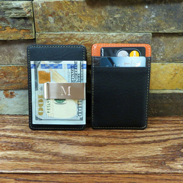 Personalized Money Clip and Card Holder