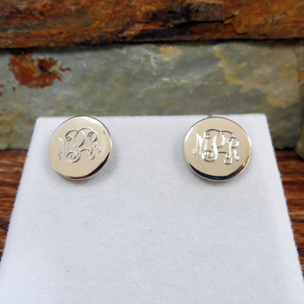 Monogrammed Stud Earrings