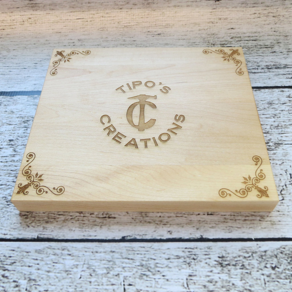 Personalized Small Square Cutting Board with Your Logo