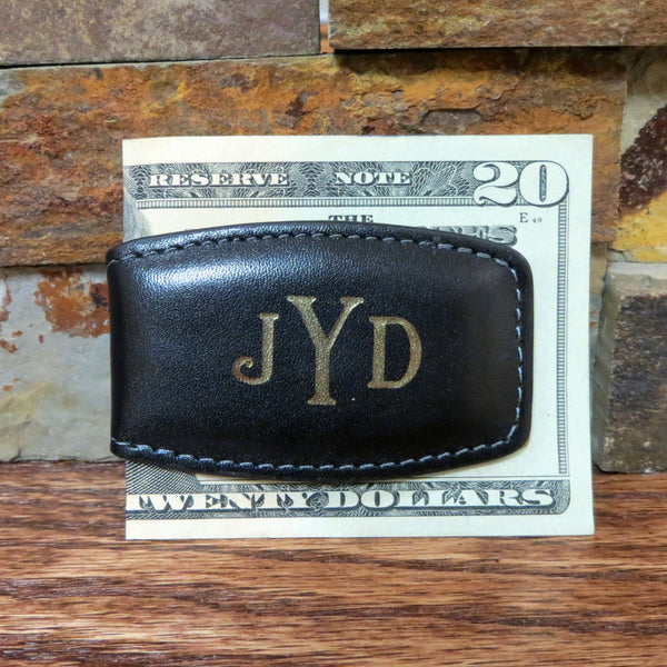 Monogram Leather Money Clip