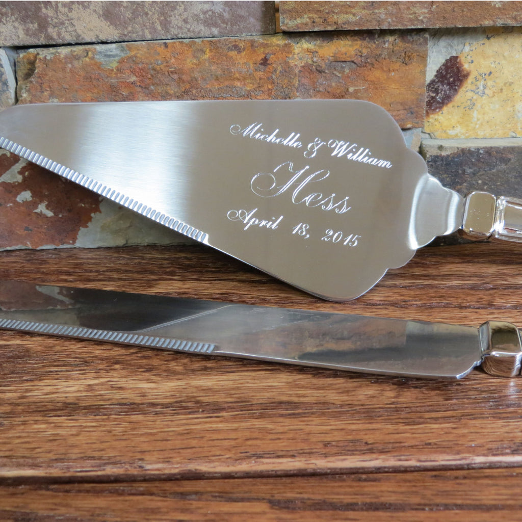 Personalized Wedding Cake Server & Knife Set
