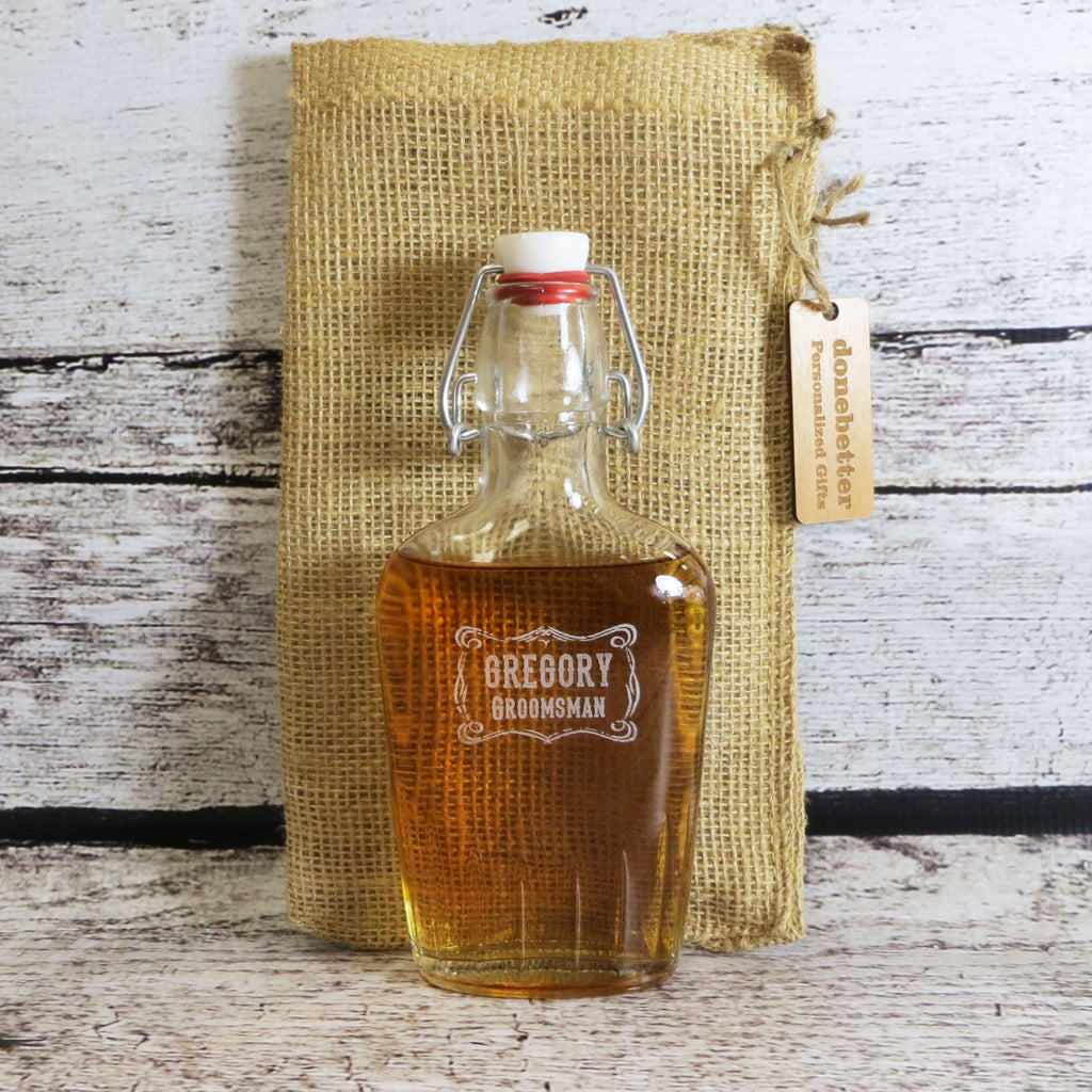 Personalized Glass Flask