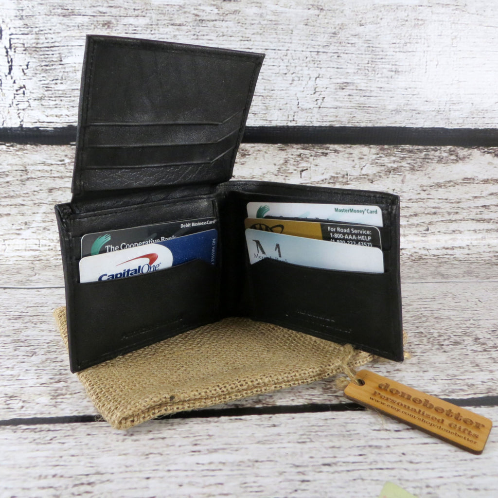 Personalized Bi-Fold Wallet for Men