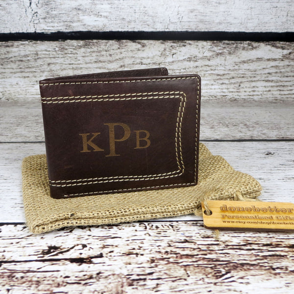 Men's Leather Wallet Monogrammed