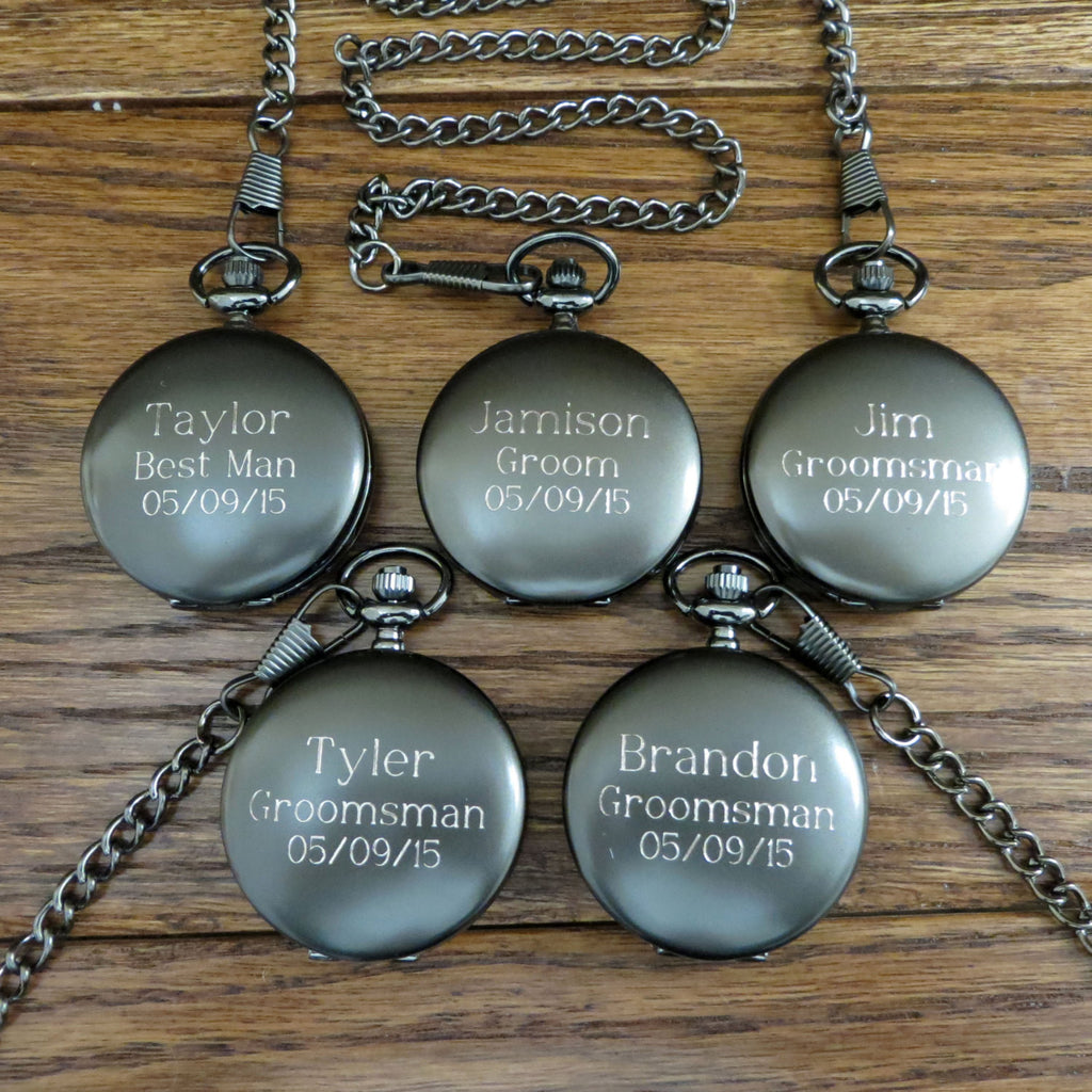 Personalized Groomsmen Pocket Watch