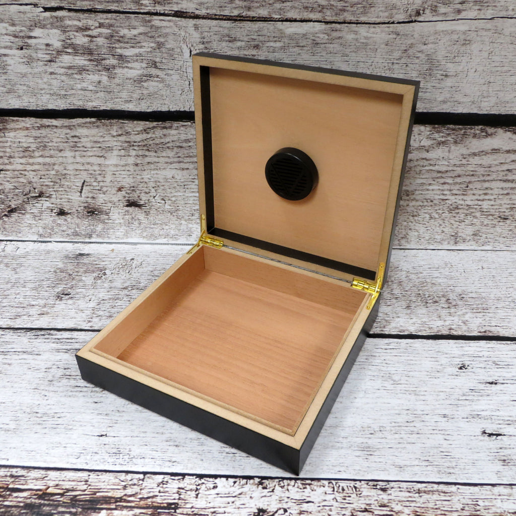 Personalized Black Cedar Humidor