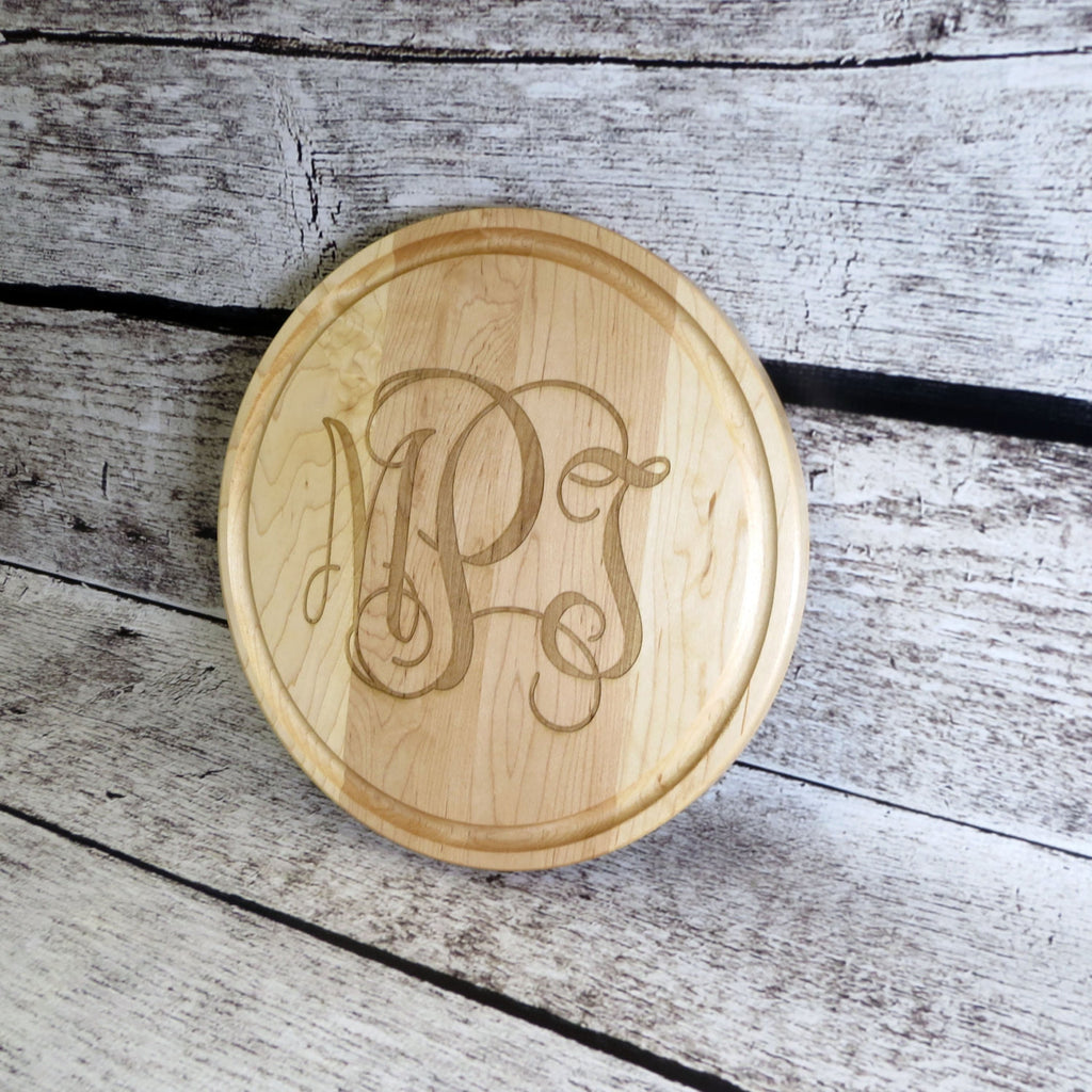 Monogrammed Round Cutting Board