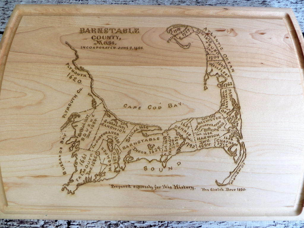Cape Cod Map Cutting Board