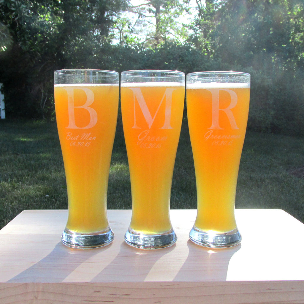 Tall Boy Pilsner Personalized Beer Glass
