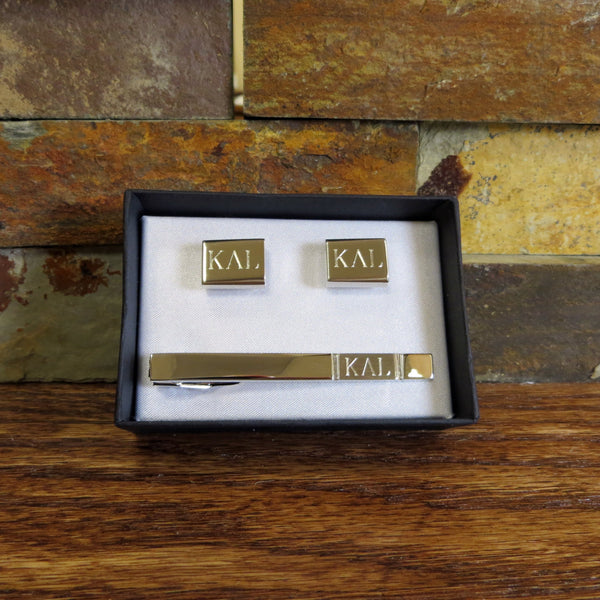 Personalized Tie Clip w/ Cuff Links