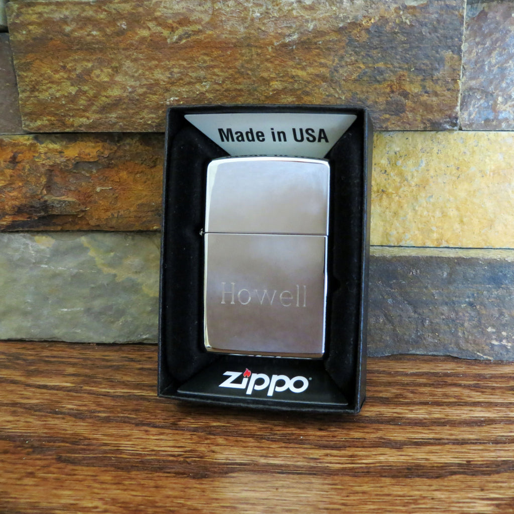 Personalized Chrome Zippo Lighter