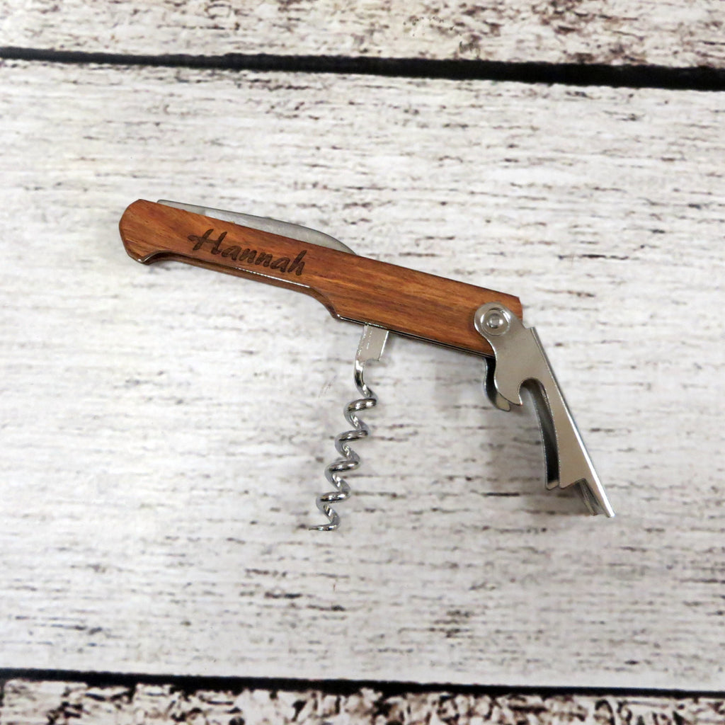 Personalized Cork Screw Wine Bottle Opener
