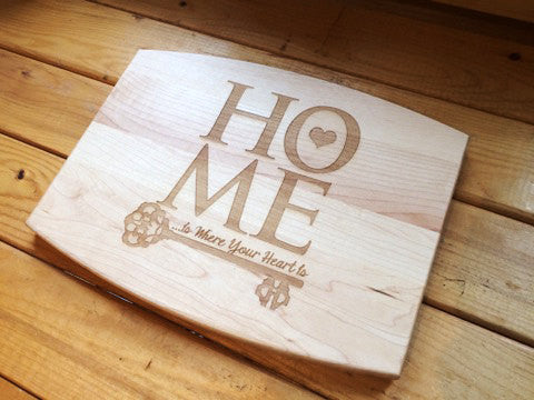 Home is Where your Heart is Personalized Cutting Board