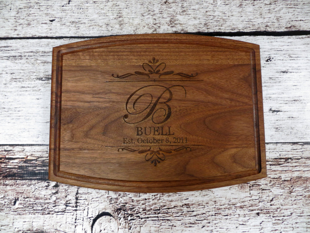 Walnut Personalized Cutting Board with Date