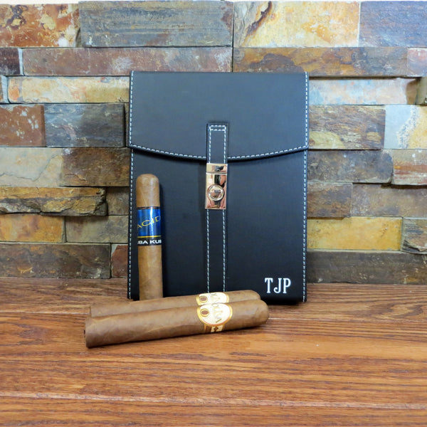 Personalized Travel Cigar Humidor Case