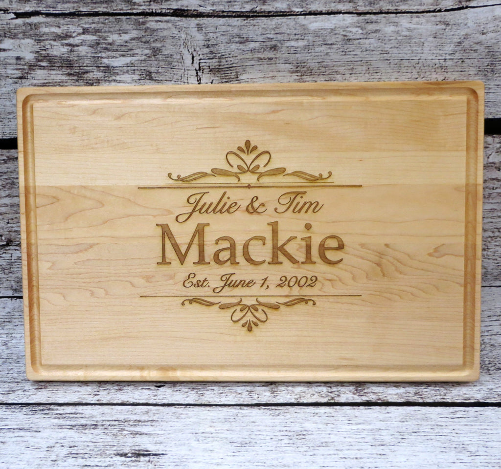 Extra Large Personalized Family Cutting Board