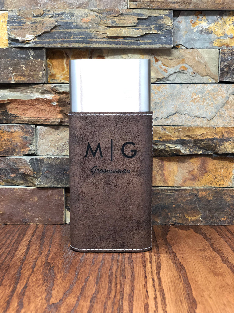 Personalized Black Stainless Steel Cigar Case with Guillotine Cutter