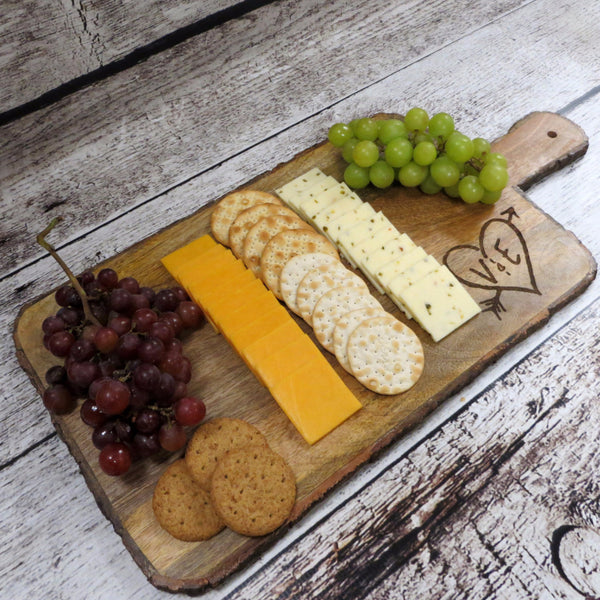 Bark Edge Rectangle Cutting Board Serving Platter
