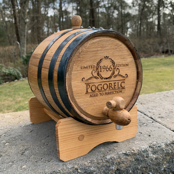 Personalized Oak Whiskey Barrel