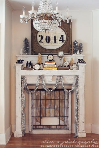 Vintage Inspired New Years Decor