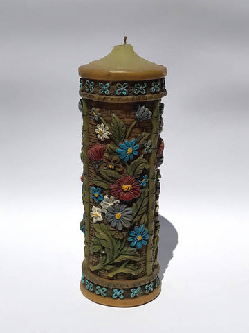 Floral Pillar Candle Photo