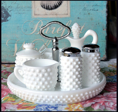 Milk Glass Collection - Condiments