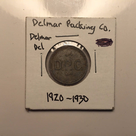 Delmar Packing Co. Token