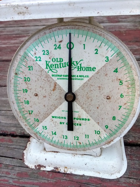 Vintage Scale Kitchen Scale Shabby Chic Metal Kentucky Home Produce Scale Louisville KY