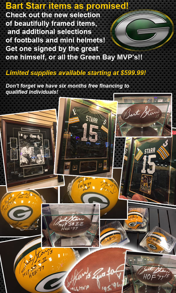 Weekly Specials - 2/22/2018 - Including New Bart Starr Autographed Memorabilia