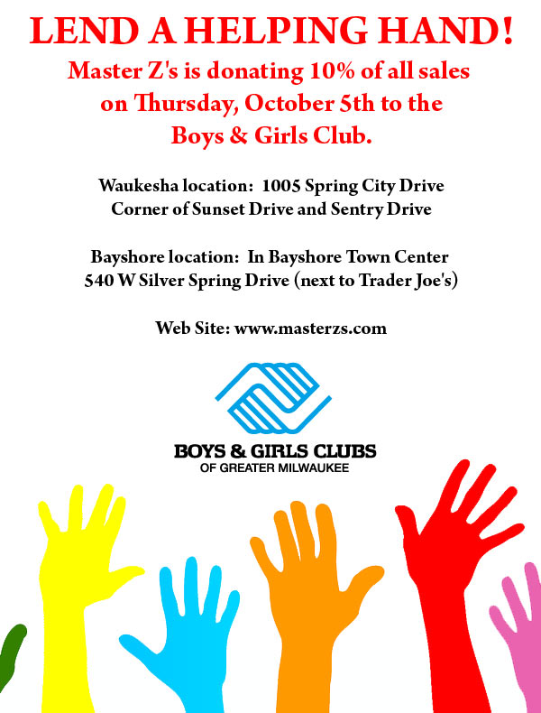 Lending a Helping Hand! Shop on Thursday, October 5th!