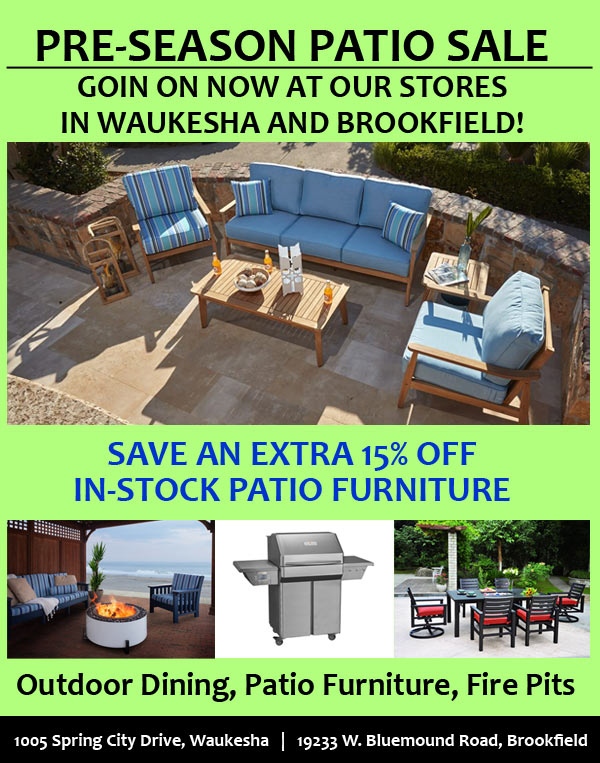 Patio Furniture Pre-Sale + Save 15% off In-Stock Patio Furniture!