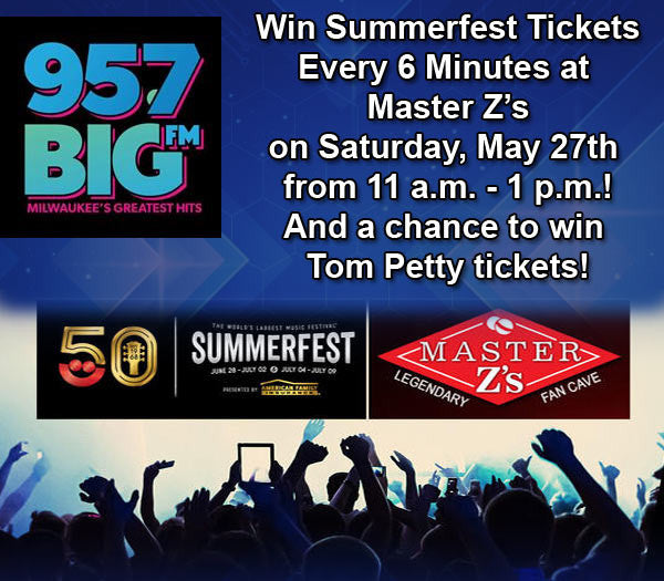 Win Summerfest Tickets and Tom Petty Tickets at Master Z's in Waukesha!