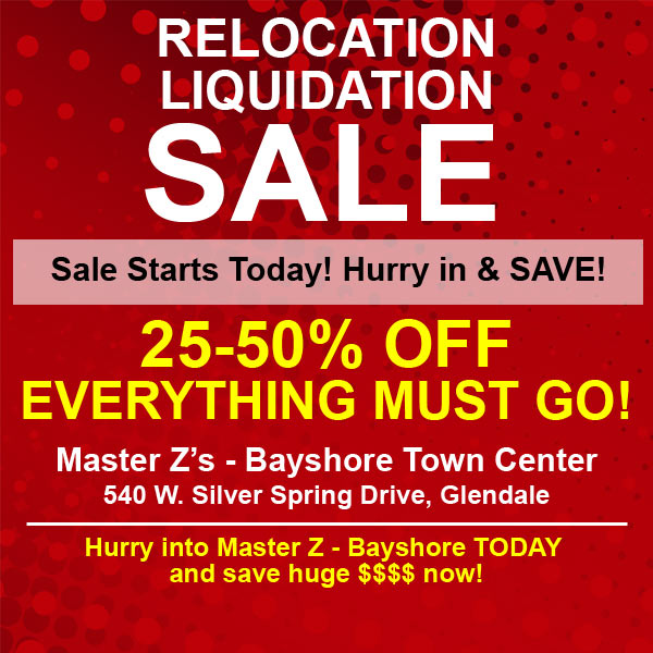 Sale starts today at our Bayshore Store!
