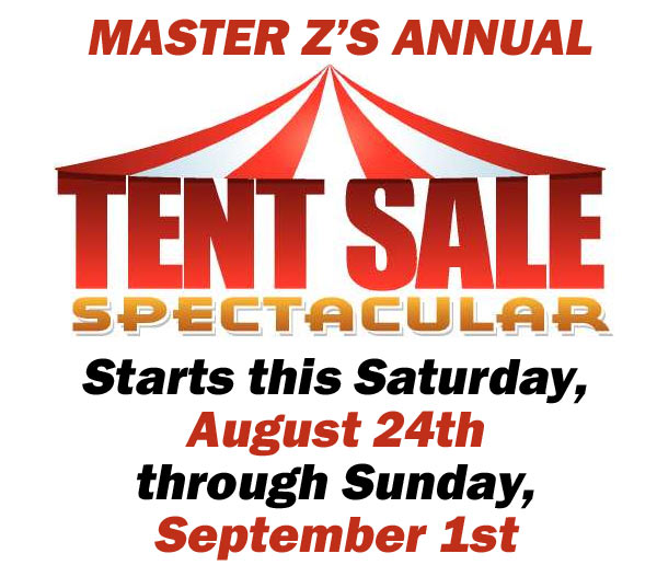 Our Annual Tent Sale starts Saturday!