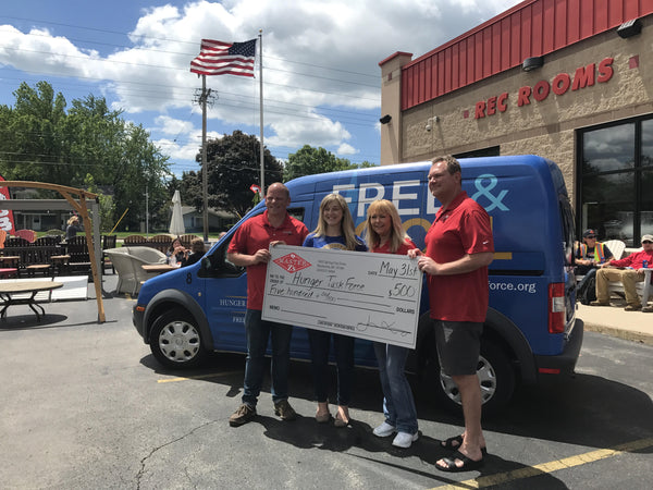 Master Z's Donates $500 to Hunger Task Force