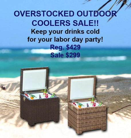 Overstocked Outdoor Cooler Sale