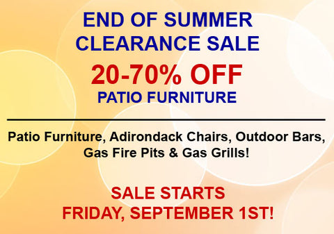 End of Summer Clearance Sale